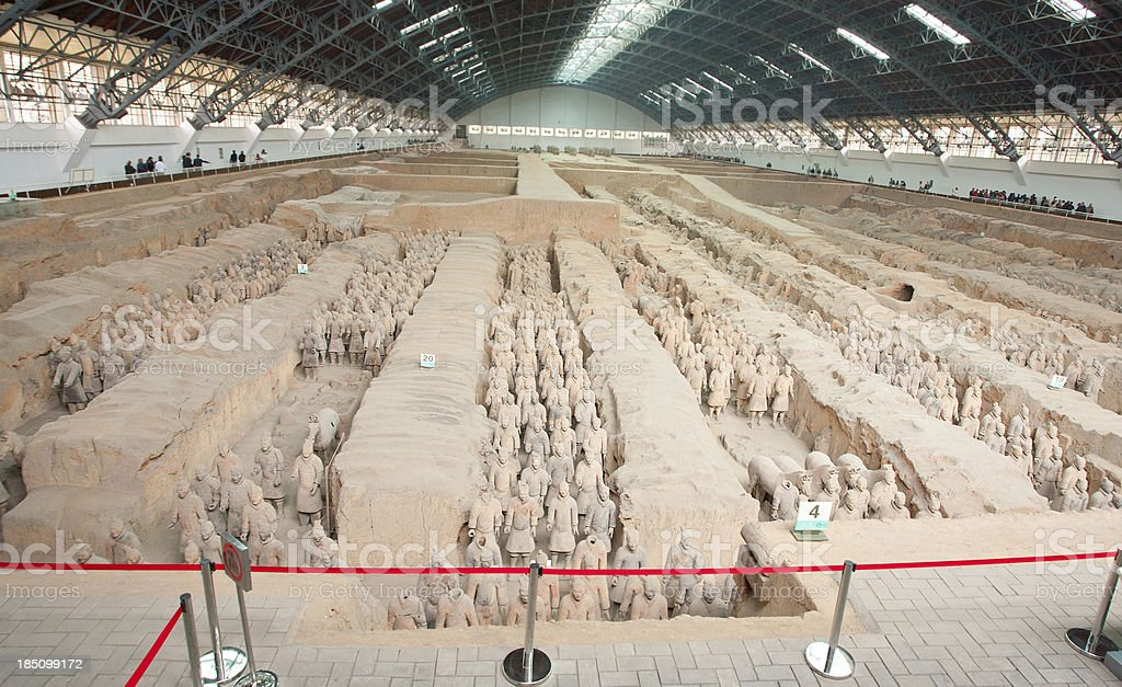 Terracotta Soldiers- Xian, China. royalty-free stock photo