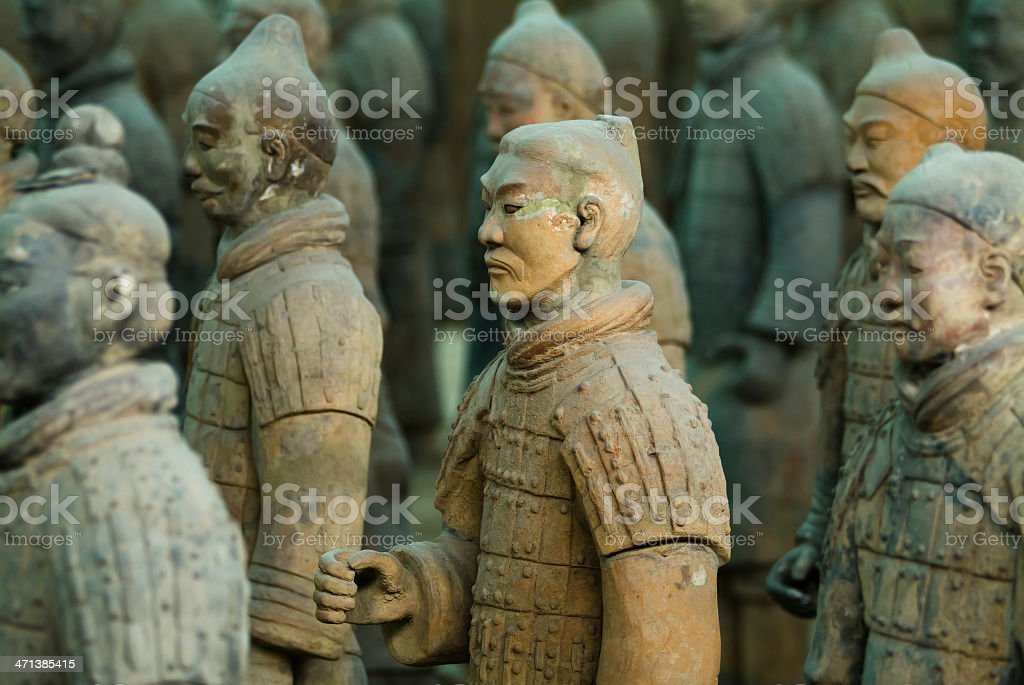 Terracotta Soldiers Xi'an China stock photo
