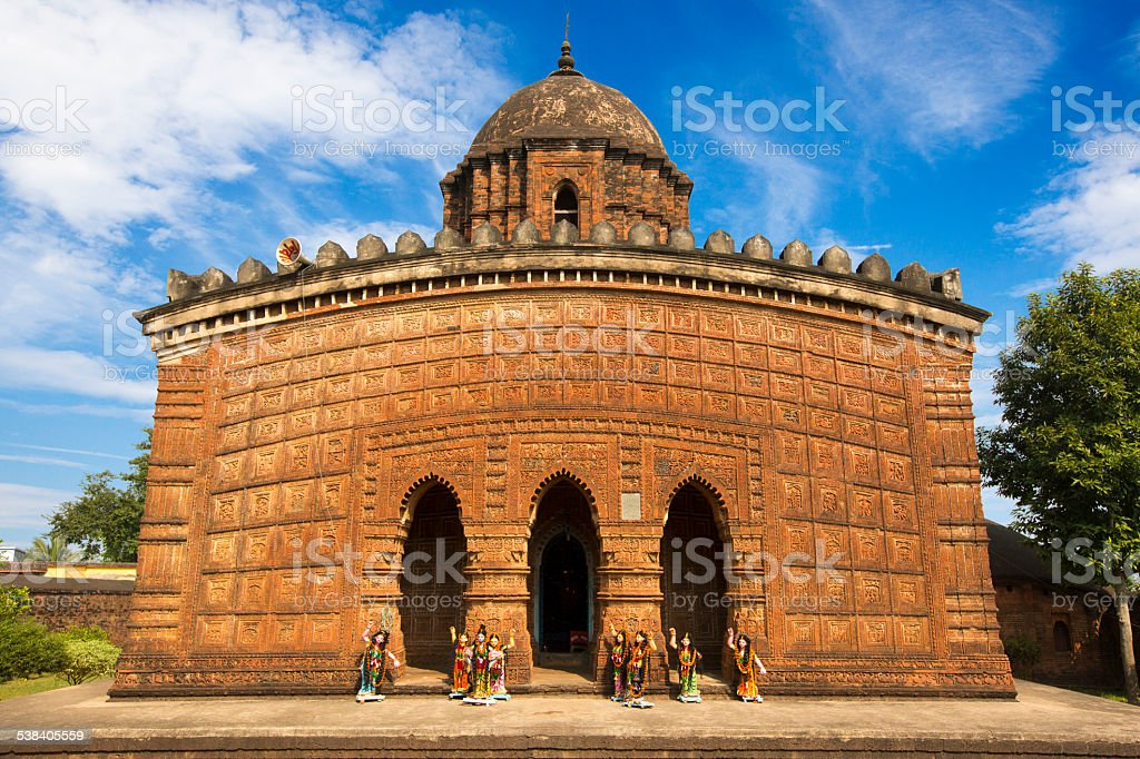Terracotta Temples of Bishnupur stock photo