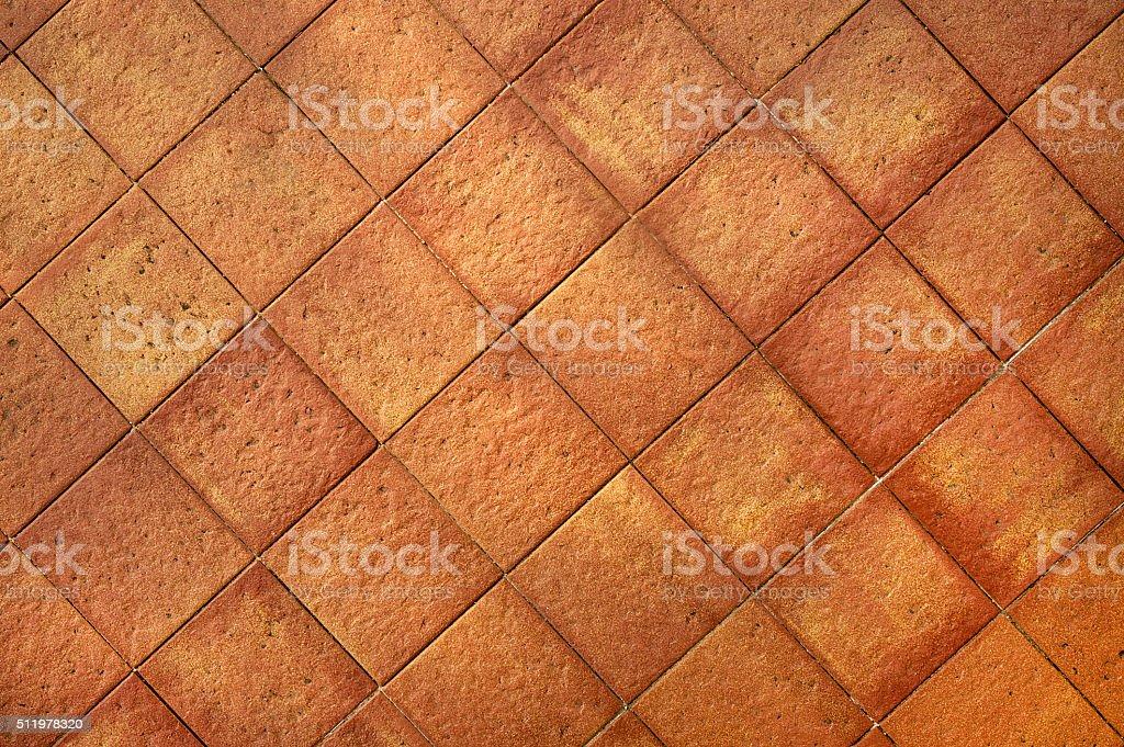 Terracotta tiles background stock photo
