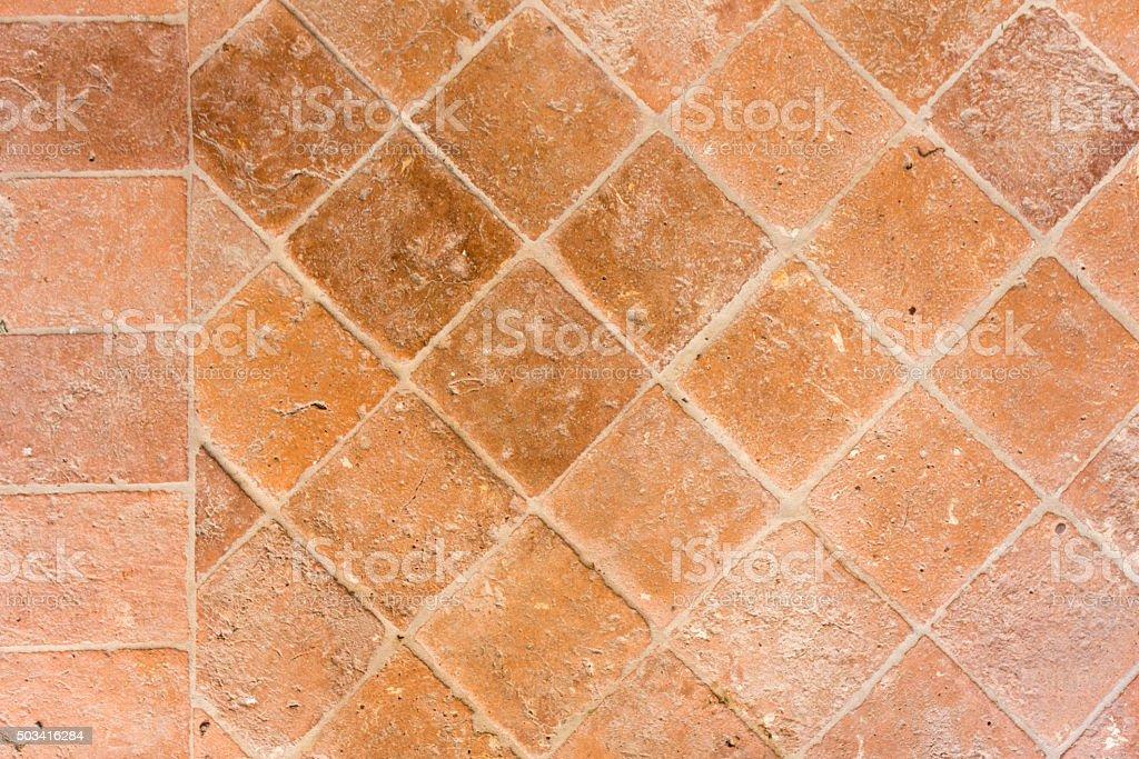 terracotta tiles floor stock photo