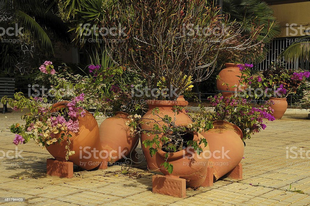Terracotta Vases stock photo