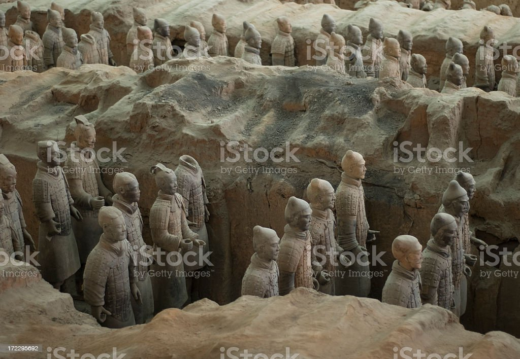 Terracotta Warriers royalty-free stock photo
