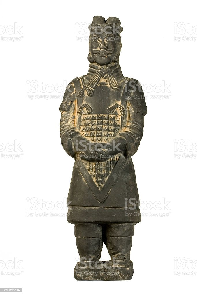 Terracotta Warrior  - Clipping Path included royalty-free stock photo