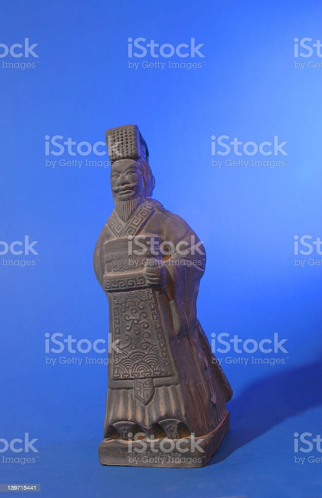 terracotta warrior figurine stock photo