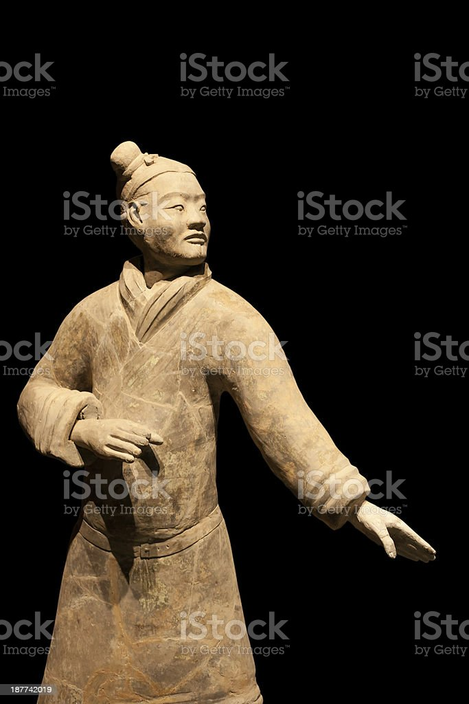 Terracotta Warrior in combat position, Xi'an, China stock photo