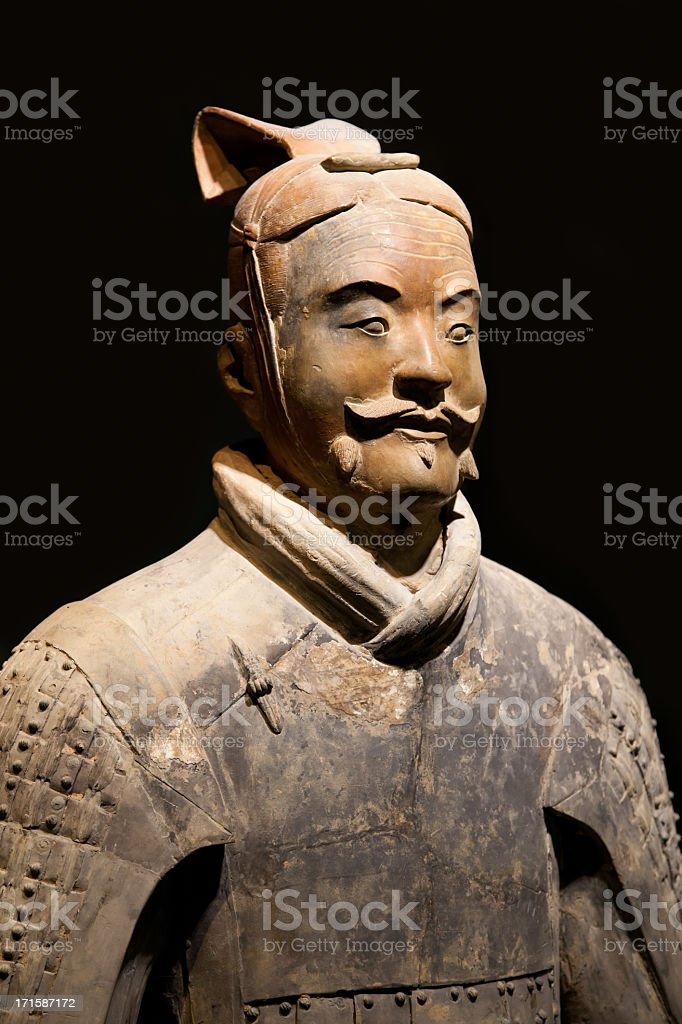 Terracotta Warrior in Xi'an, China stock photo