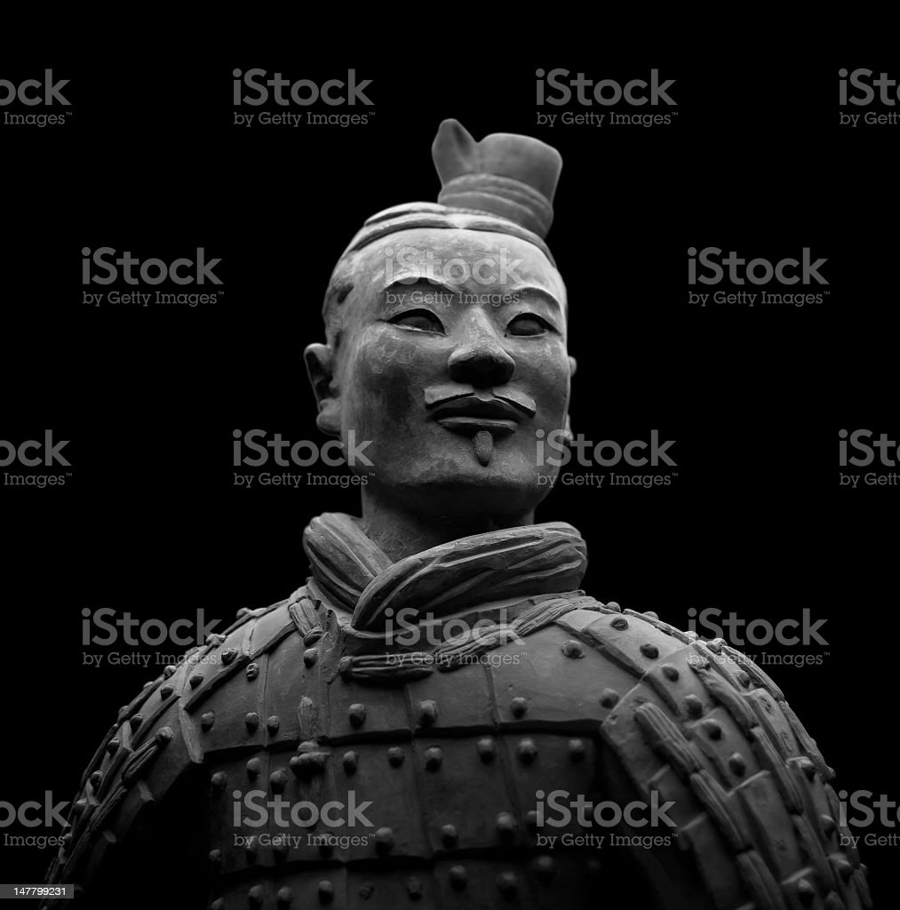 Terracotta Warrior stock photo