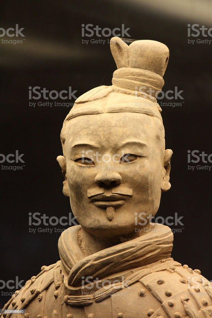Terracotta Warrior stock photo