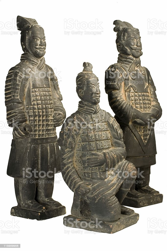 Terracotta Warriors  - Clipping Path included royalty-free stock photo