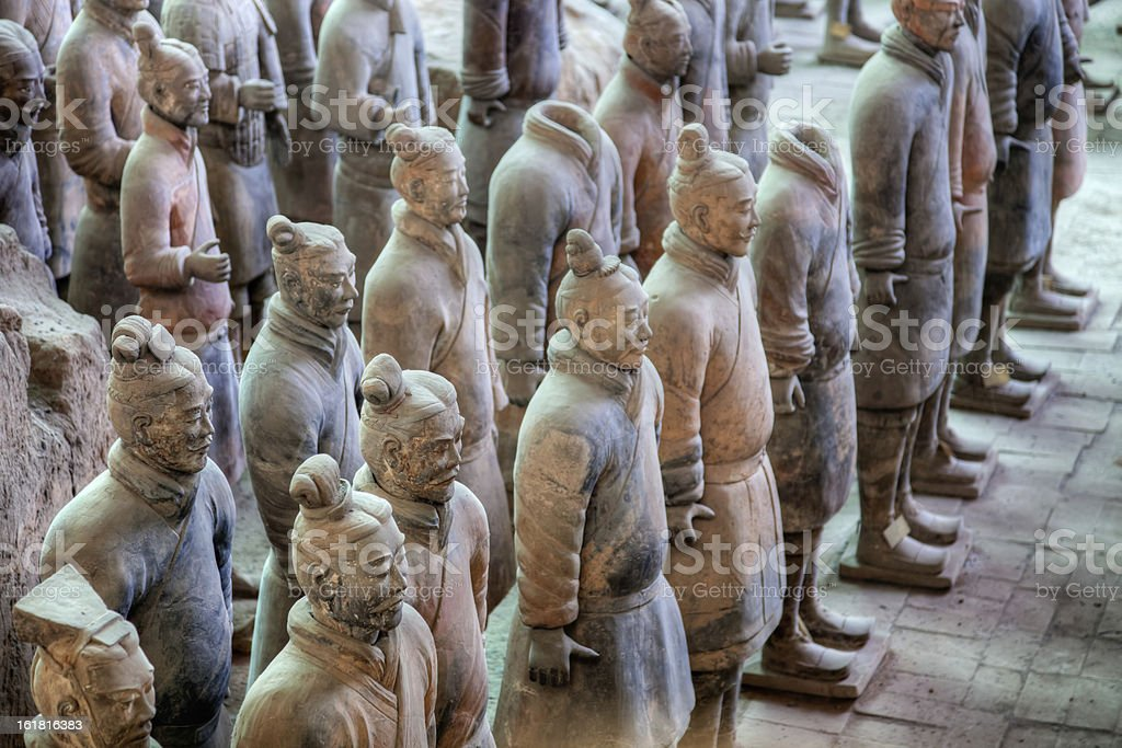 Terracotta Warriors in Xi'an, China stock photo