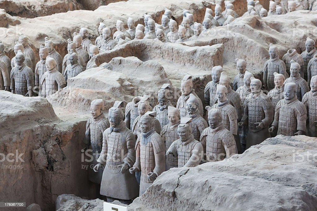 Terracotta Warriors in Xian, China royalty-free stock photo