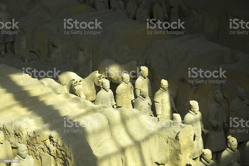 Terracotta Warriors in Xi'an, China stock photo