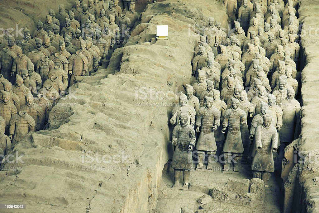 Terracotta Warriors in Xi'an, China royalty-free stock photo
