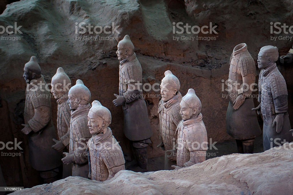 Terracotta Warriors stock photo