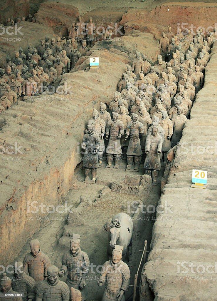 Terracotta Warriors stock photo