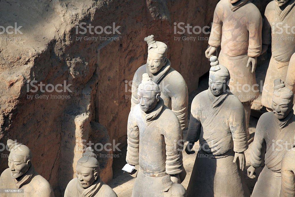 Terracotta Warriors royalty-free stock photo
