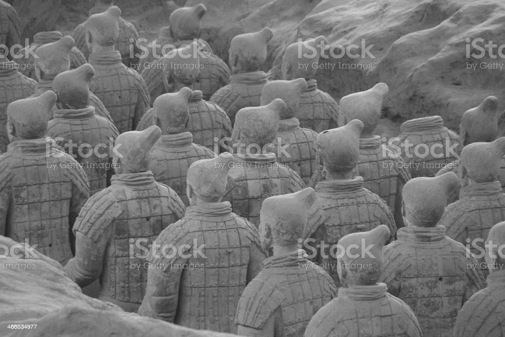 Terracotta Warriors. stock photo