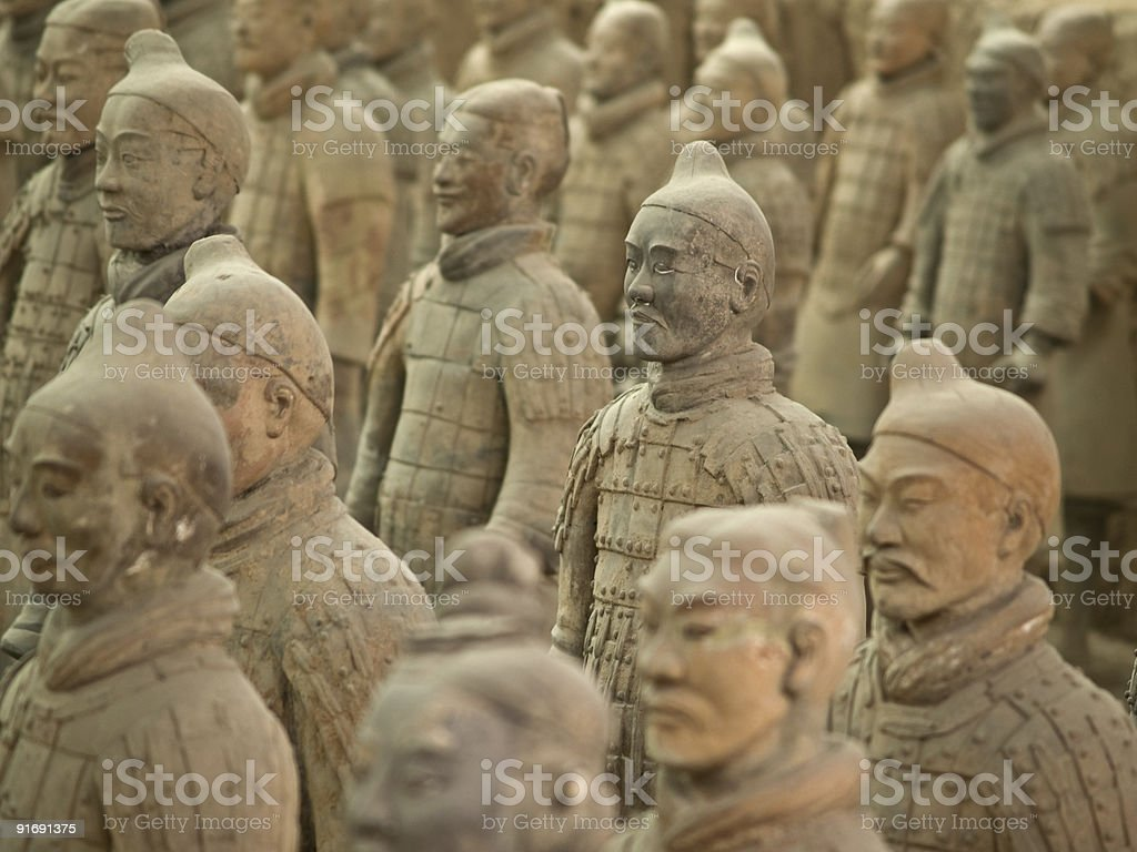 terra-cotta warriors royalty-free stock photo