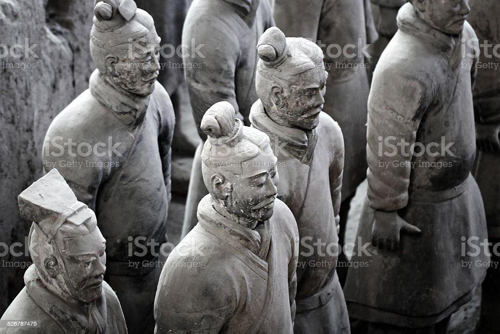 Terracotta Warriors Sculpture stock photo