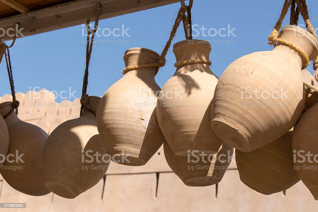 Terracotta Waterjars stock photo