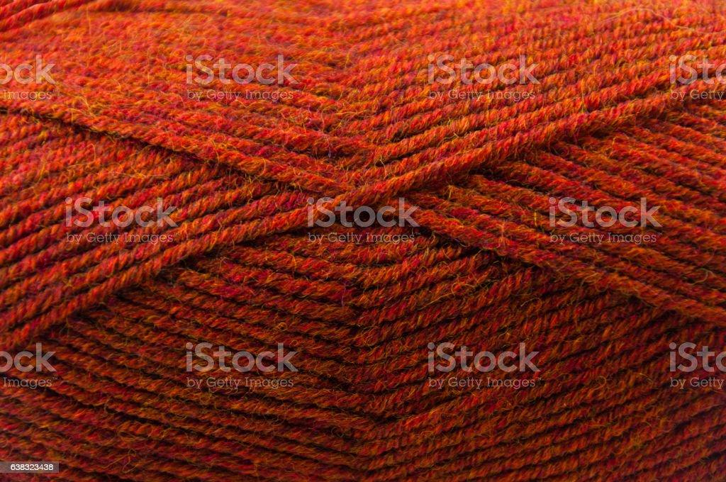 Terracotta yarn stock photo