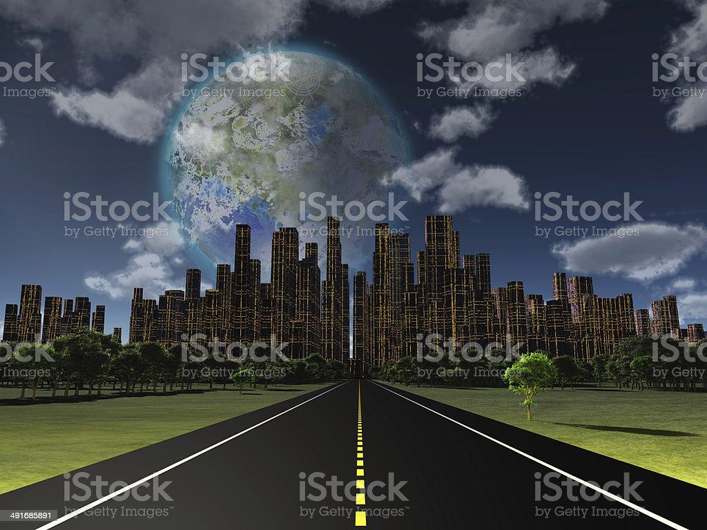 Terraformed royalty-free stock photo