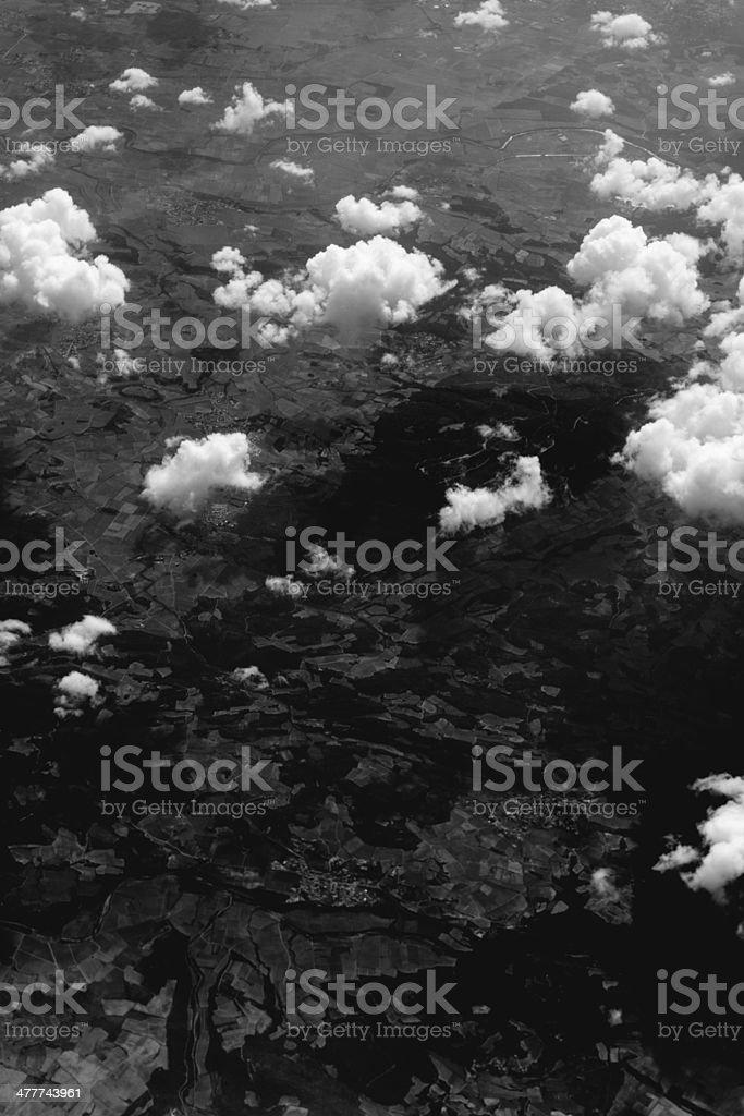 terrain from the sky stock photo