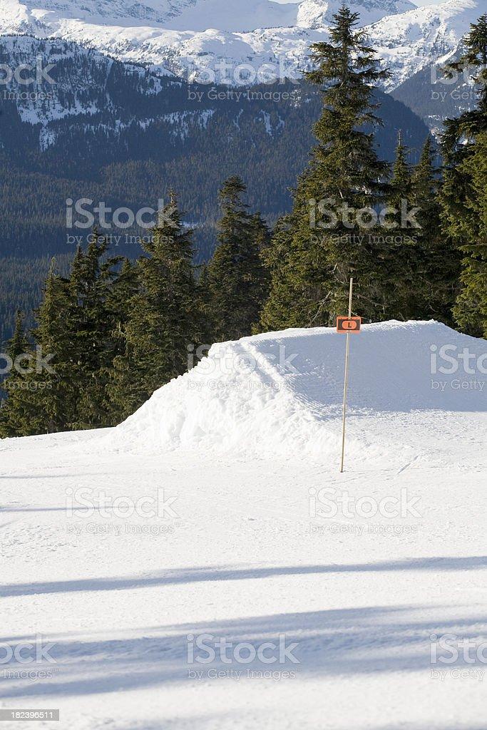 terrain park jump stock photo