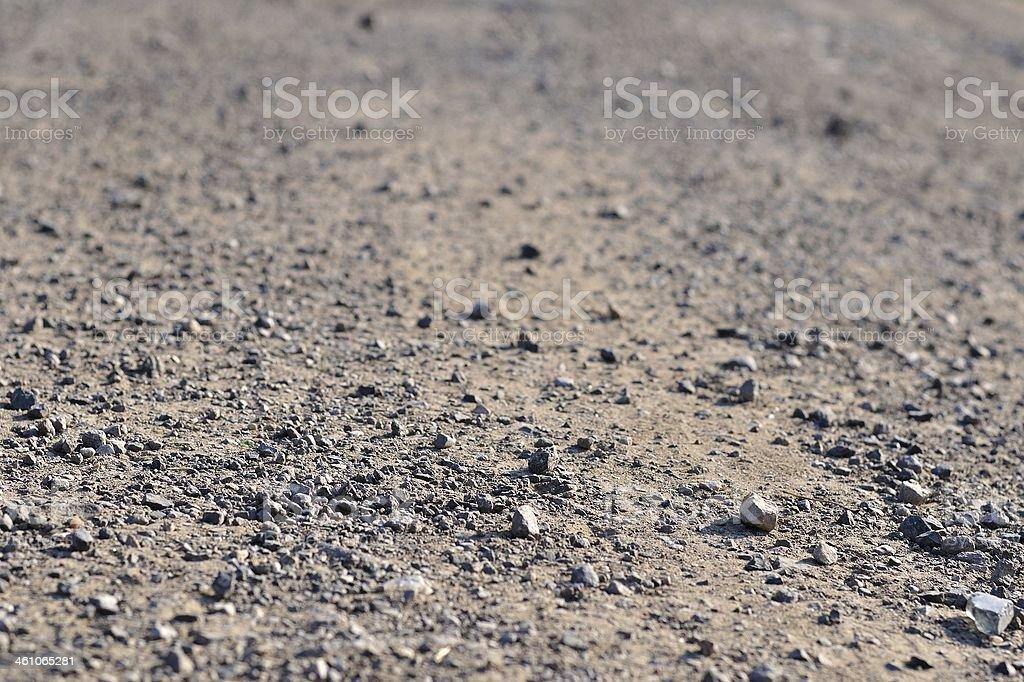 Teren Droga z małymi kamieniami na ziemi zbiór zdjęć royalty-free
