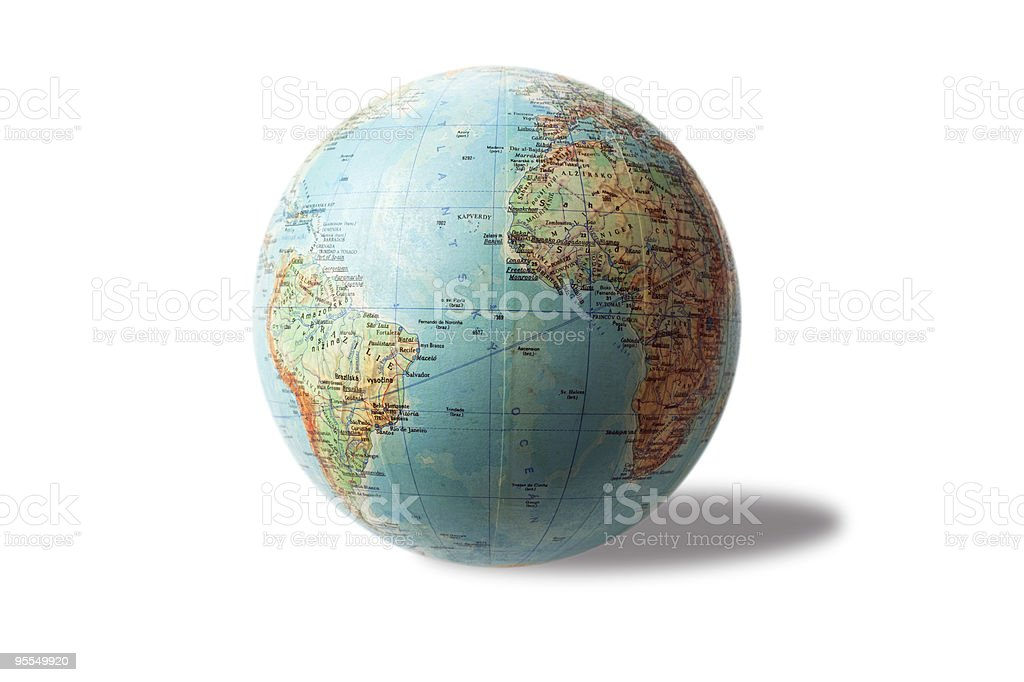 Terrestrial globe royalty-free stock photo