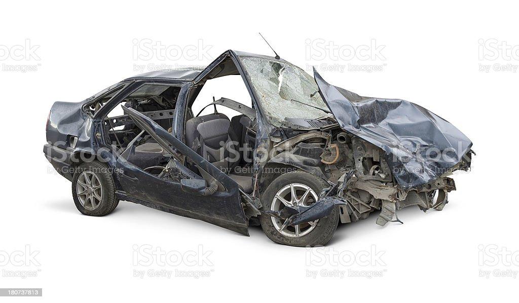 Terrible Crash stock photo