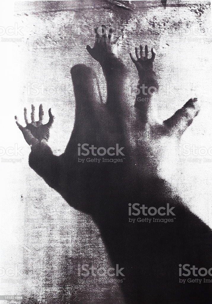 terrible hands mutation royalty-free stock photo