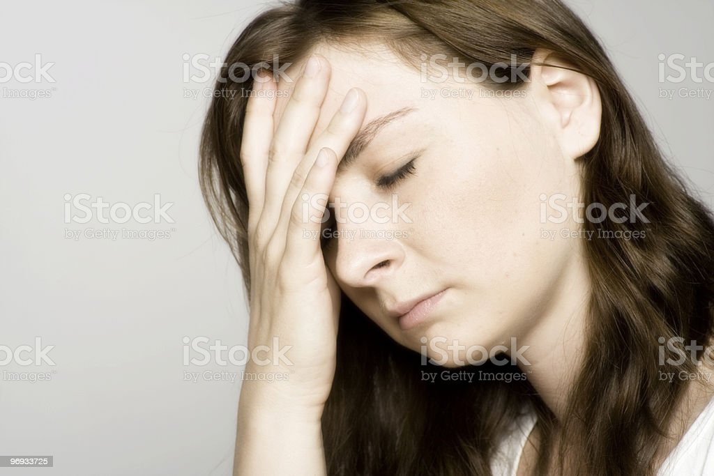 Terrible headache stock photo