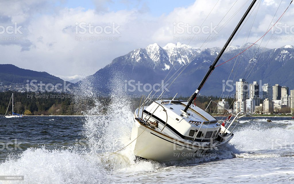 Terrible Waves royalty-free stock photo