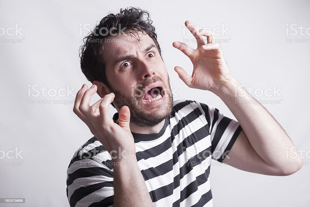 Terrified royalty-free stock photo