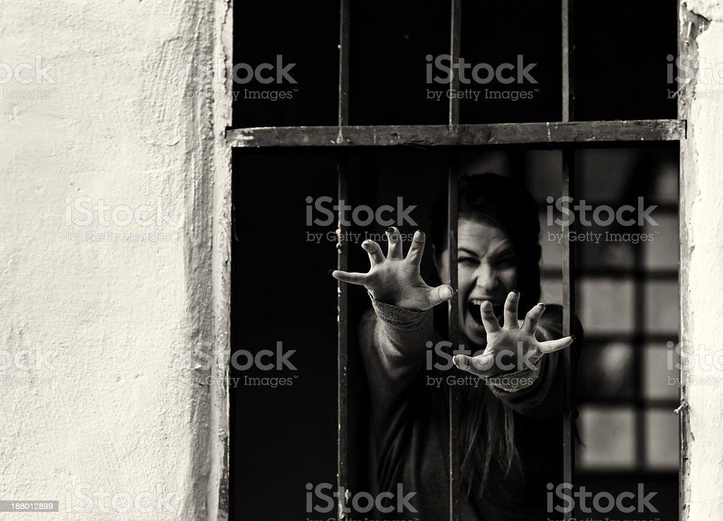 terrified woman royalty-free stock photo
