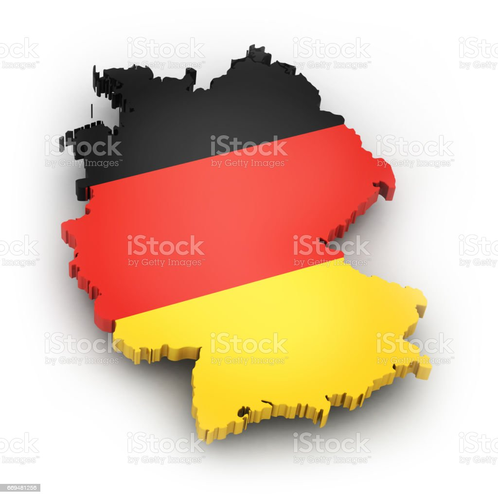 Territory and flag of Germany stock photo