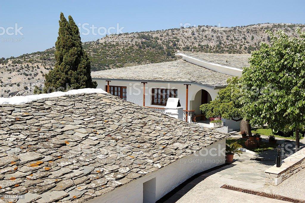 Territory of Archangel Michael Monastery royalty-free stock photo