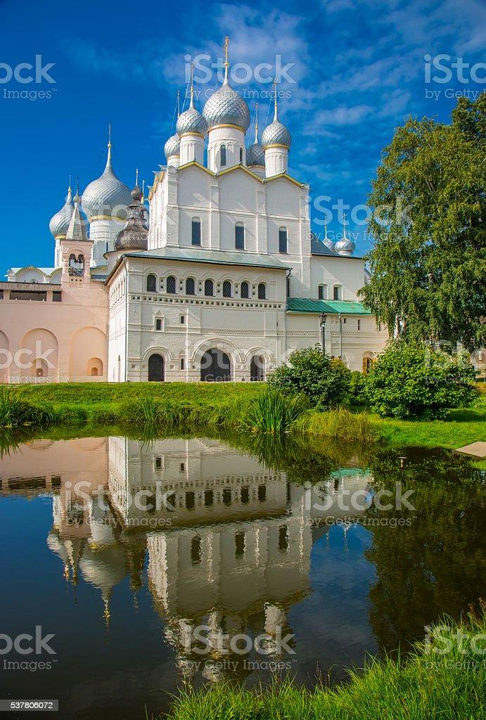 Territory of the Rostov Kremlin, Golden Ring Russia stock photo