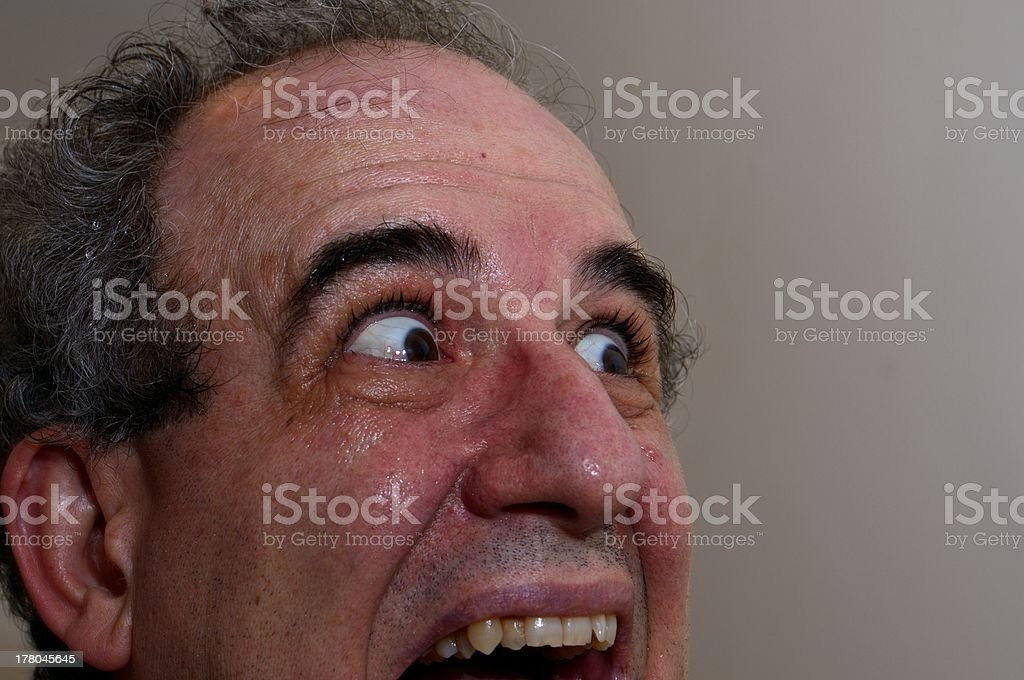 El terror cara - foto de stock