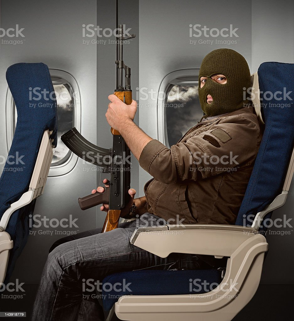 Terror in the air royalty-free stock photo