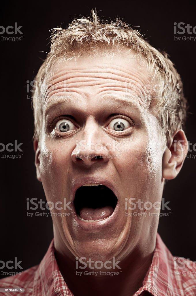 Terror Scream Portrait stock photo