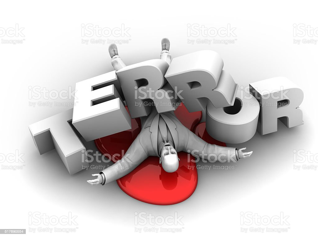 Terror Victim stock photo