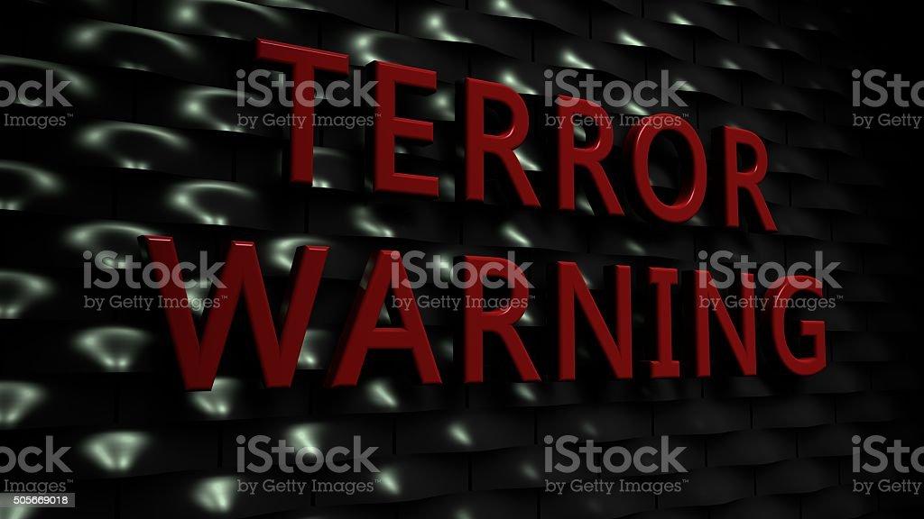 Terror Warning stock photo