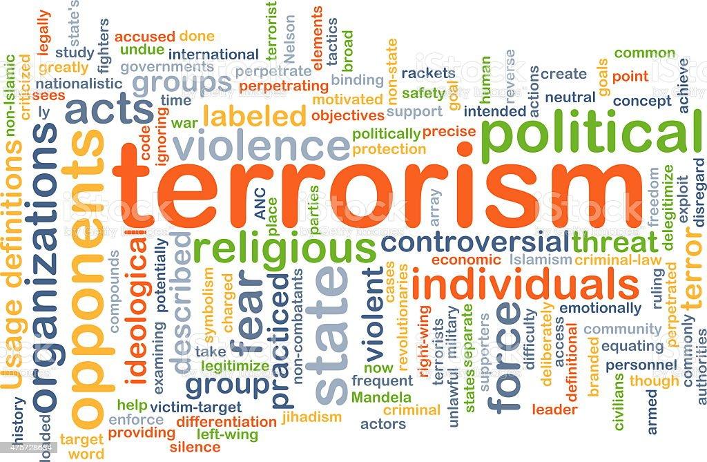 Terrorism background concept stock photo