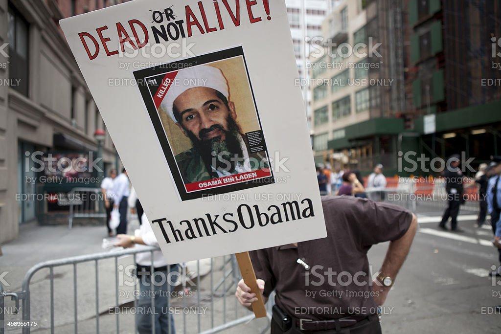 Terrorism Dead not Alive Osama Bin Laden stock photo