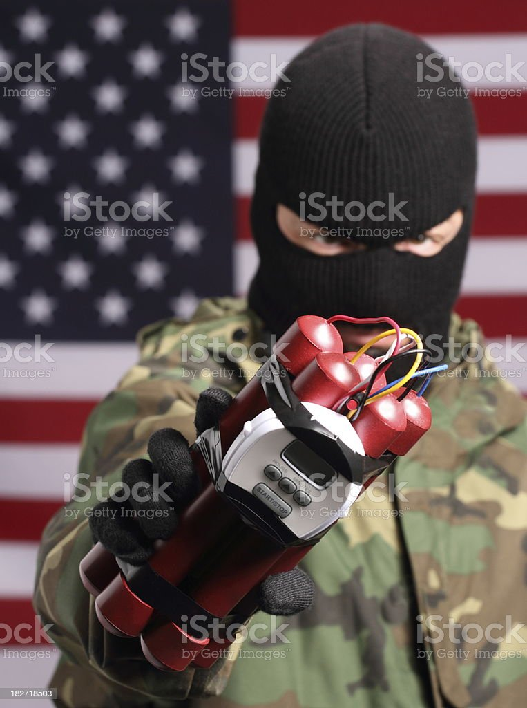 Terrorist in America Vertical stock photo