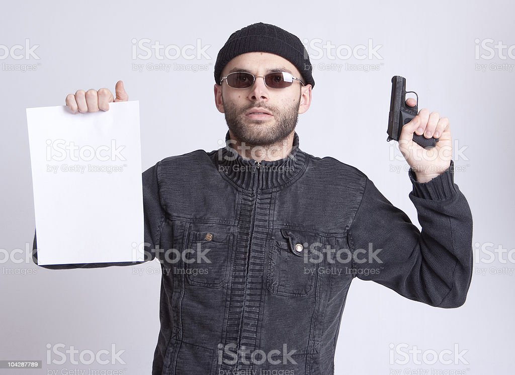 Terrorist manifesto royalty-free stock photo