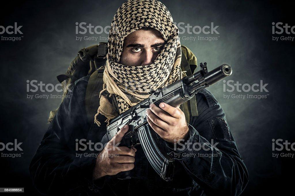 Terrorist stock photo